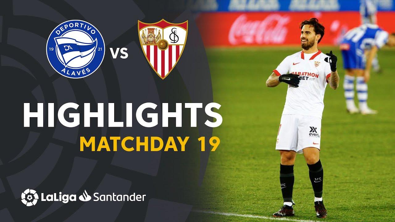 Highlights Deportivo Alaves Vs Sevilla Fc 1 2 Youtube