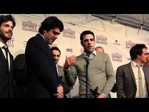 JC Chandor, Zachary Quinto & Crew of Margin Call at 2012 Film Independent Spirit Awards