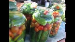 Консервирование ассорти огурчики и помидорчики