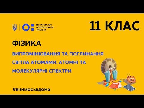 MON UKRAINE: 11 клас. Фізика. Випромінювання та поглинання світла атомами (Тиж.1:ЧТ)