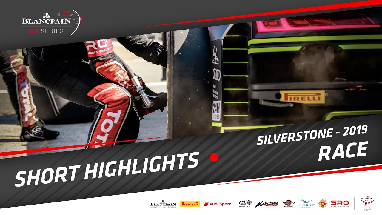 SILVERSTONE - Short Race Highlights - Blancpain GT Series 2019 - Motor Informed
