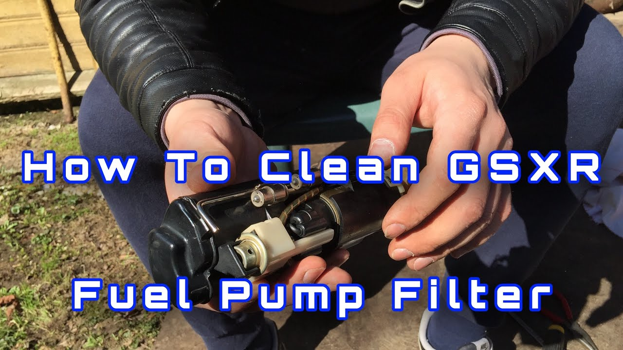 How to clean Gsxr 1000 K1  Fuel pump filter