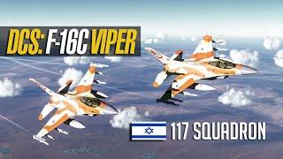 "DCS: Israeli F-16C ""Barak"" against 4 Iraqi Migs BVR Engagement"