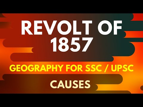 Causes of Revolt of 1857 UPSC  SSC NCERT