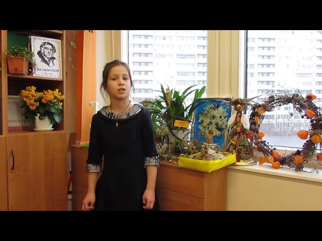 Изображение предпросмотра прочтения – ДарьяЧерник читает произведение «Ворона и Лисица» И.А.Крылова