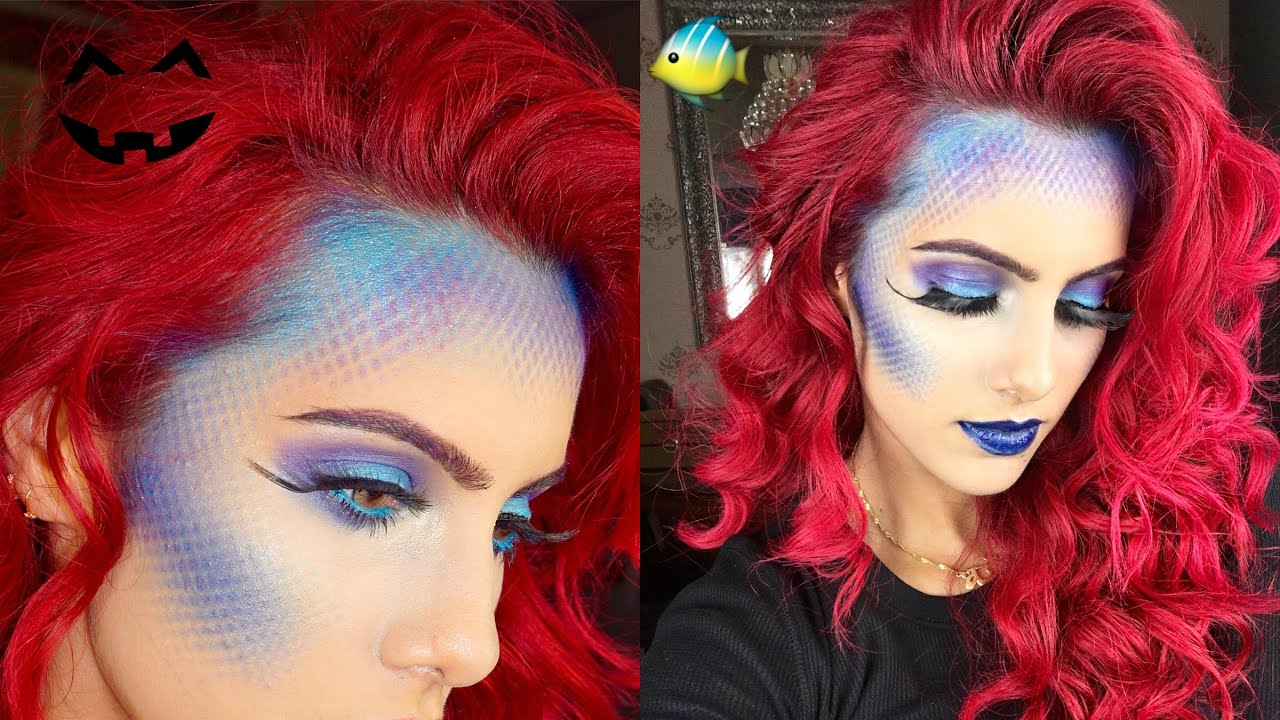 EASY Mermaid halloween tutorial | BODMONZAID - YouTube