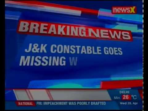J&K constable goes missing withservice rifle from Police Post Pakherpora