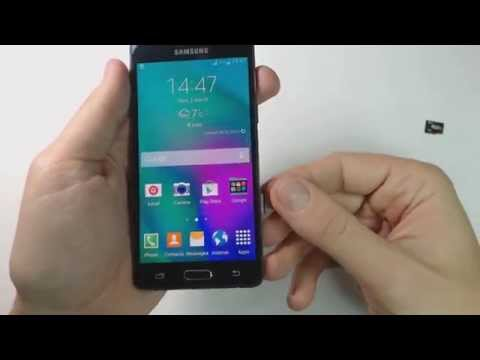 How to put sim card and memory card on Samsung Galaxy A5 A500FU