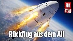 🔴SpaceX Dragon Raumschiff verlässt die ISS Richtung Erde! (eng dub)