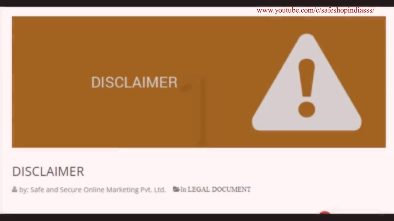 SAFE SHOP ALL LEGAL DOCUMENTS YouTube - Buy legal documents online
