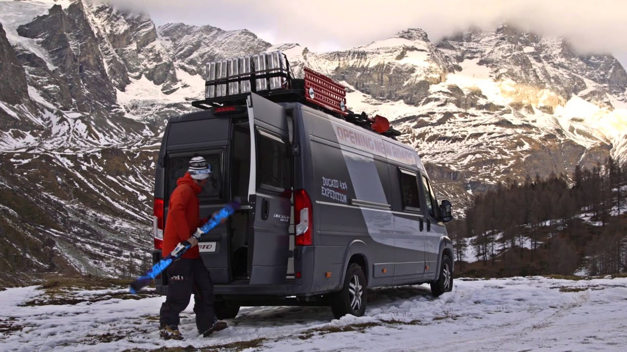 fiat ducato 4x4 expedition snow adventure youtube. Black Bedroom Furniture Sets. Home Design Ideas