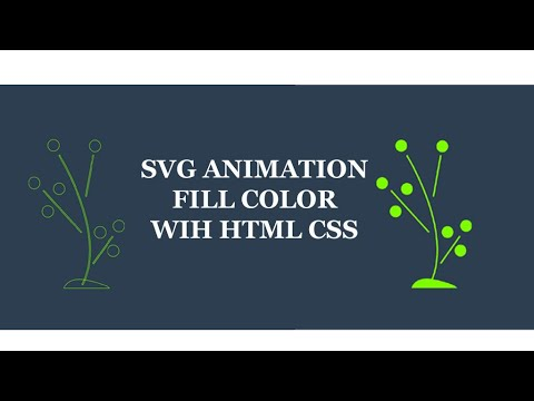 Svg Animation With Html Css Fill Svg Color With Animation Youtube