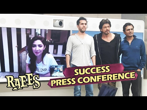 RAEES SUCCESS Press Conference - FULL VIDEO - Shahrukh Khan, Mahira Khan, Nawazuddin