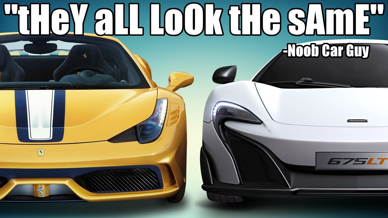 Stop Saying Modern Supercars Look the Same.