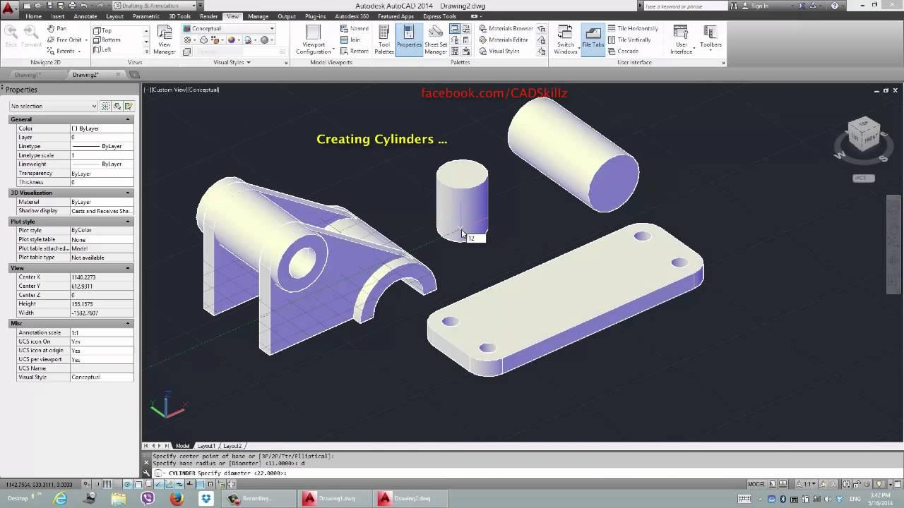 autocad 2014 3d modeling pdf