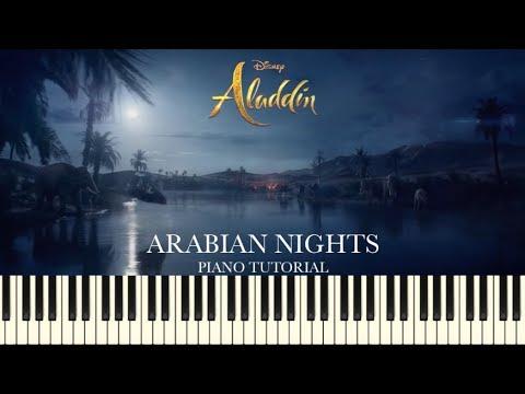 Aladdin (2019) - Arabian Nights (Piano Tutorial + Sheets)