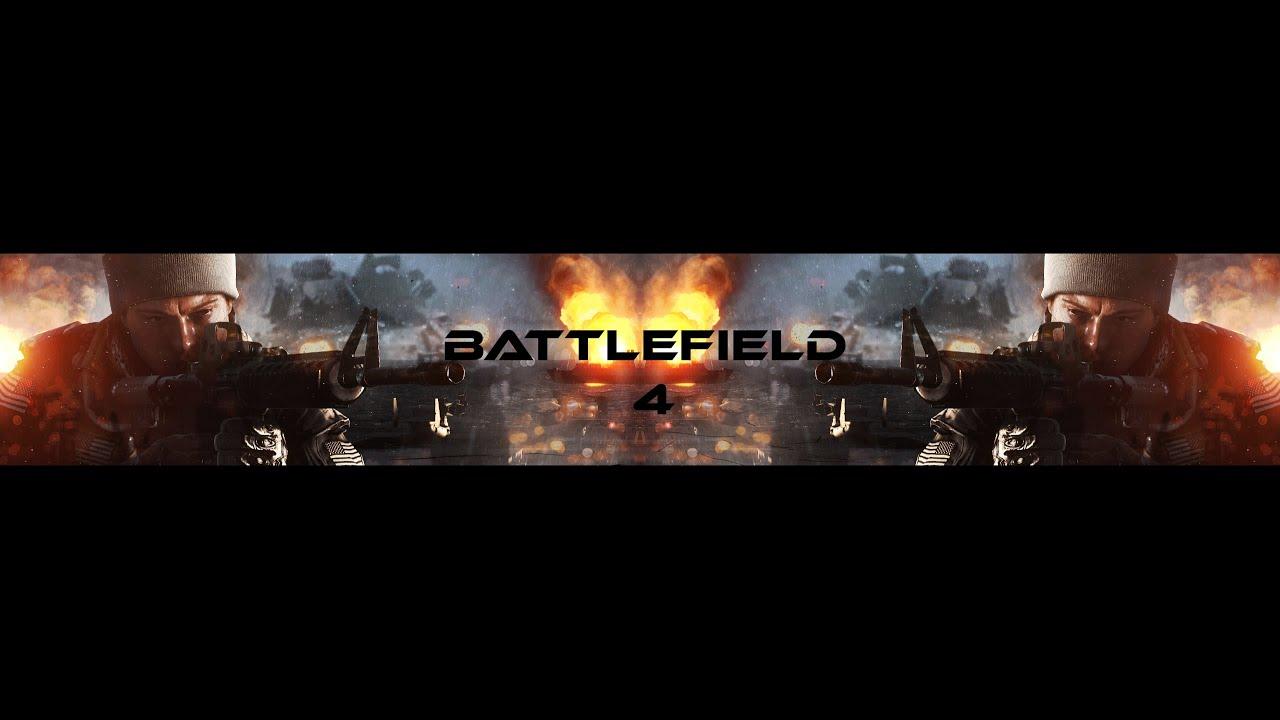 Free Youtube Banner Template #2 ( Battlefield 4 ) Edit - CS6 - YouTube