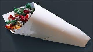 Как сделать кулёк из бумаги. Кулек из бумаги. Как сделать кулек. (how to make a paper bag)