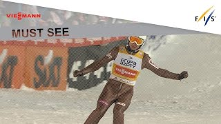 1st place in Large Hill #2 for Kamil Stoch - Wisla - Ski Jumping - 2016/17