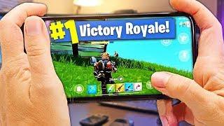 MON PREMIER TOP 1 sur FORTNITE Battle Royale MOBILE !! - (iPhone X)