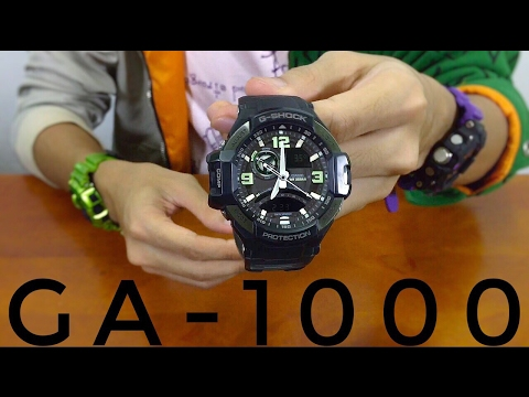 Neo-Brite Gravitymaster GA-1000-1BJF Skycockpit G-Shock watch review | and then some...