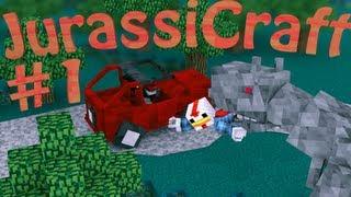 "Minecraft Let's Play - ""DINOSAUR TECHNOLOGY"" Minecraft Jurassic Craft Ep 1"