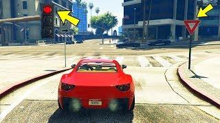 Соблюдаю правила дорожного движения в GTA 5.. вот что получилось!