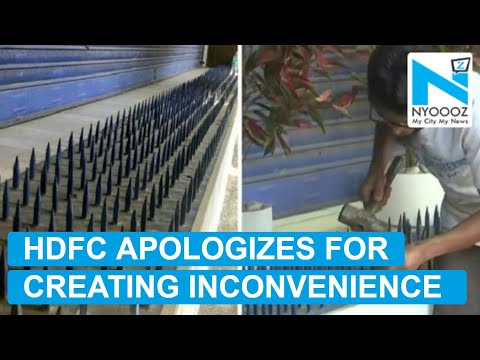 HDFC Apologizes For Installing Metal Spikes Outside Branch | NYOOOZ TV