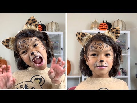 Easy Leopard Cheetah Makeup Tutorial Halloween For Kids