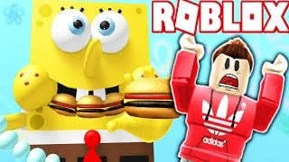 ESCAPE THE EVIL GIANT SPONGEBOB! (Roblox Adventures)
