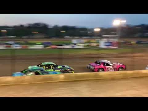Fayette county speedway West Union Iowa USRA stock car heat 1