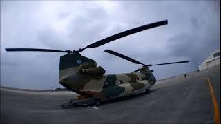 那覇駐屯地所有のボーイング・バートルCH-47J/JAチヌーク 大型ヘリコプ...