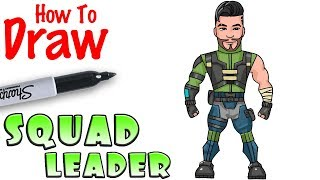 How to Draw Squad Leader | Fortnite