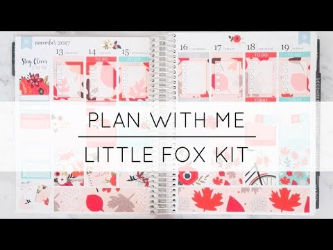 Plan With Me | Little Fox Kit (Ft. Tender Designs)