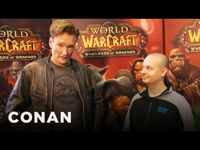 """Conan Plays """"World Of Warcraft"""" At BlizzCon '13 #1"""