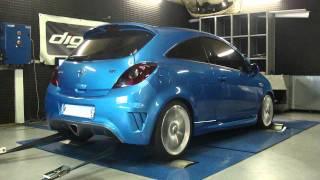 Reprogrammation moteur Opel corsa OPC 192cv @ 221cv dyno digiservices