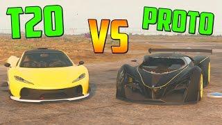 GROTTI X80 PROTO vs T20! Test de Velocidad!! - GTA V ONLINE