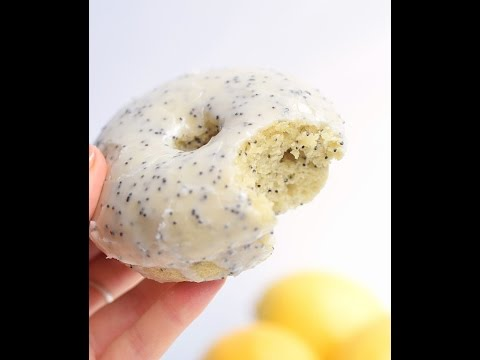 Baked Lemon Poppy Seed Donuts | Truffles And Trends