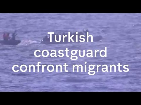 Turkish coastguard appears to strike migrant boat