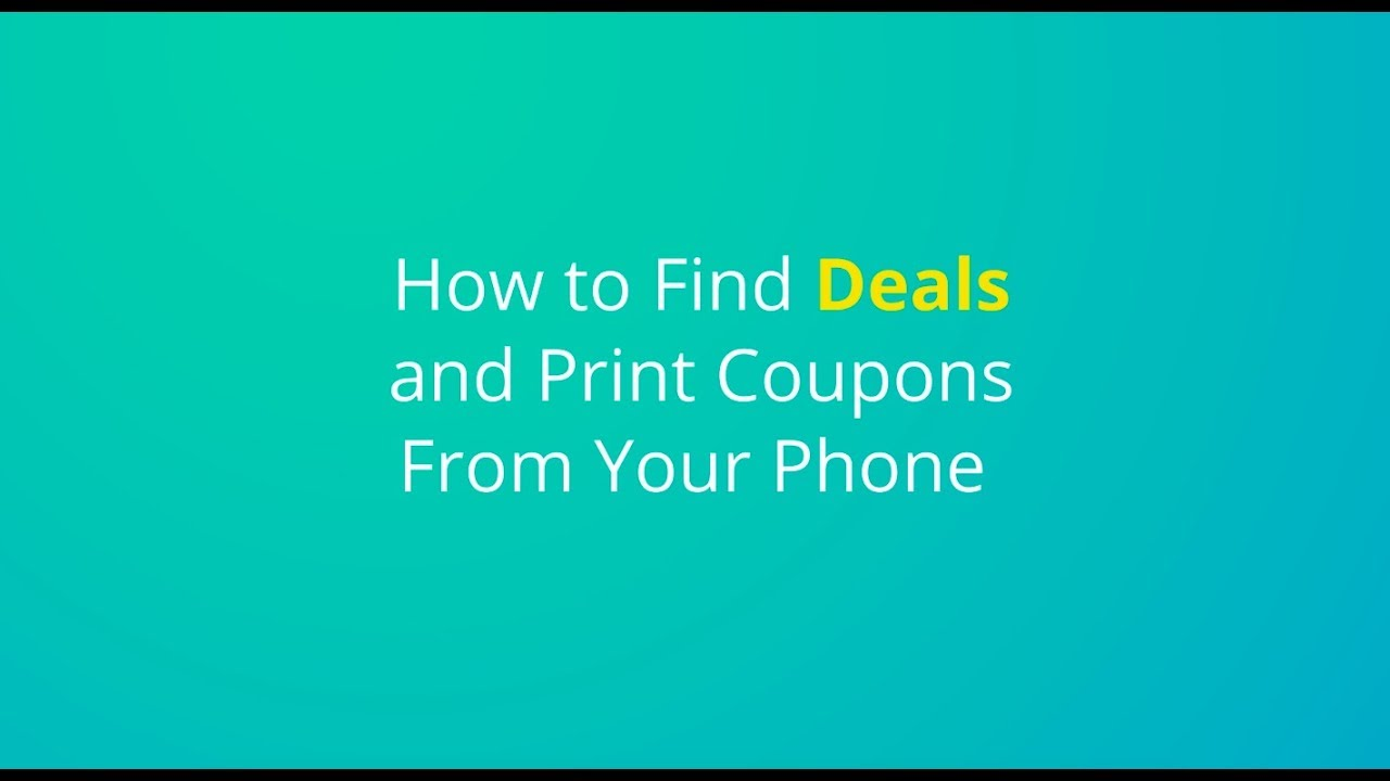 Coupons com app not finding printer