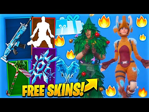 *NEW* FREE Leaked Fortnite Skins..! (Winterfest Free Presents & Rewards)