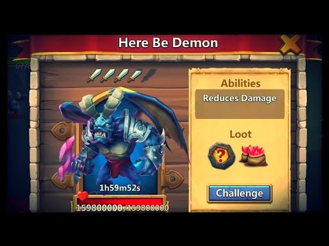 Castle Clash: Here Be Demon Boss - Damage Reduction