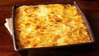 Запеченный картофель со сливками и сыром. Домашний рецепт