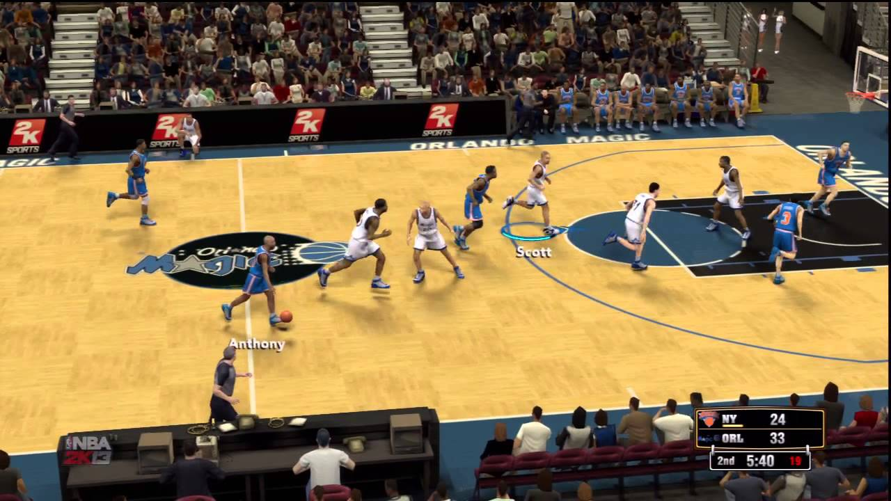 NBA 2K13 - 1995 New York Knicks VS 1995 Orlando Magic Live Gameplay - YouTube