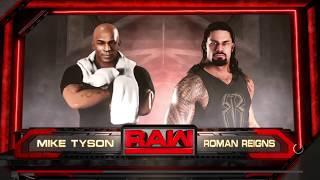 WWE 2K18 Mike Tyson VS Roman Reigns 1 VS 1 Match