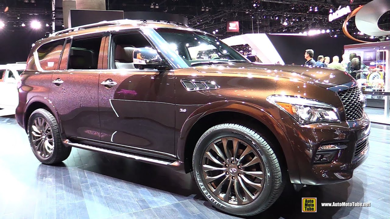 2015 Infiniti QX80 Limited - Exterior and Interior Walkaround - 2014 LA Auto Show - YouTube