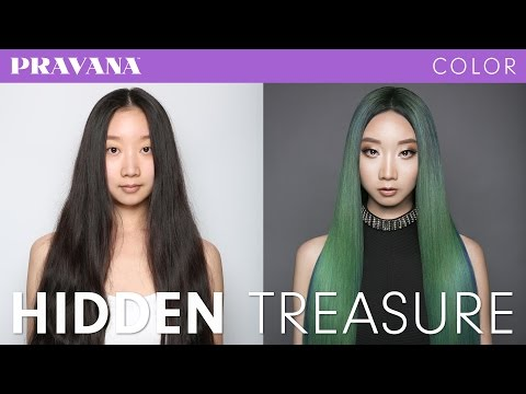 How-To | Hidden Treasure Green Hair Color with PRAVANA VIVIDS Jewels