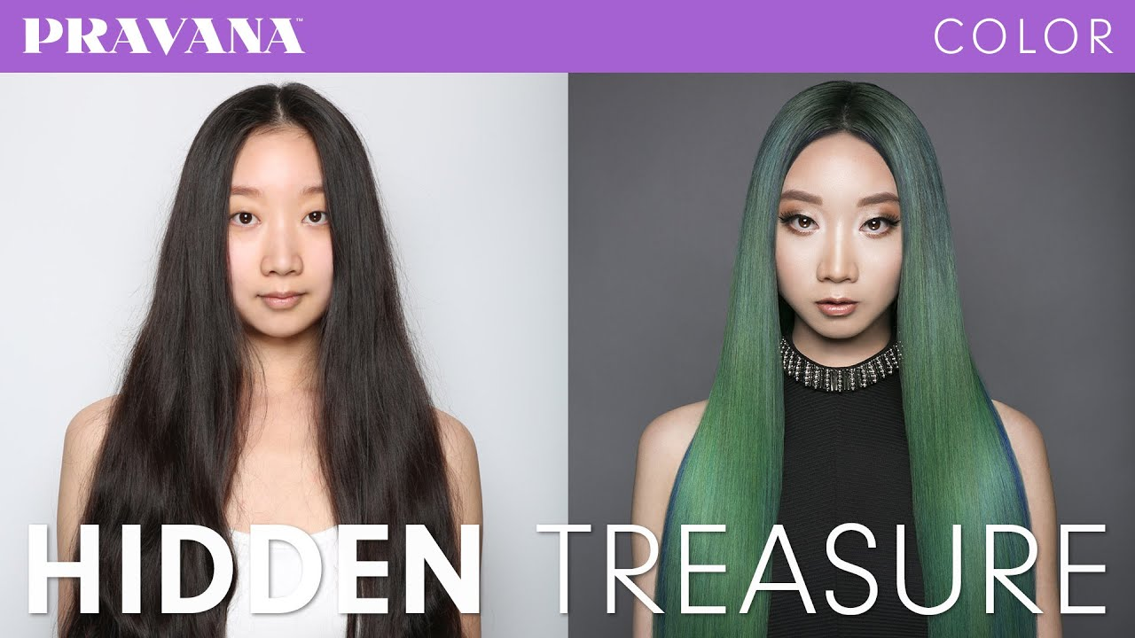 How To Hidden Treasure Green Hair Color With Pravana S Jewels You