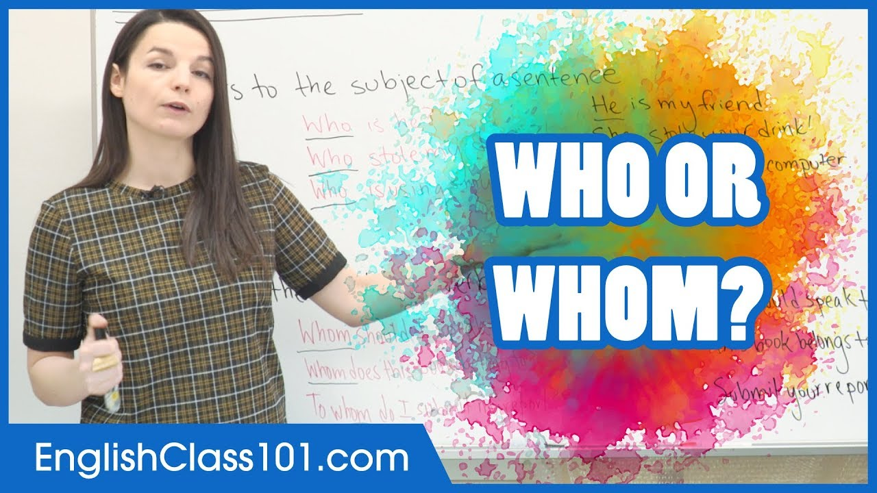 Download Who or Whom? How to use Relative Pronouns - Basic English Grammar