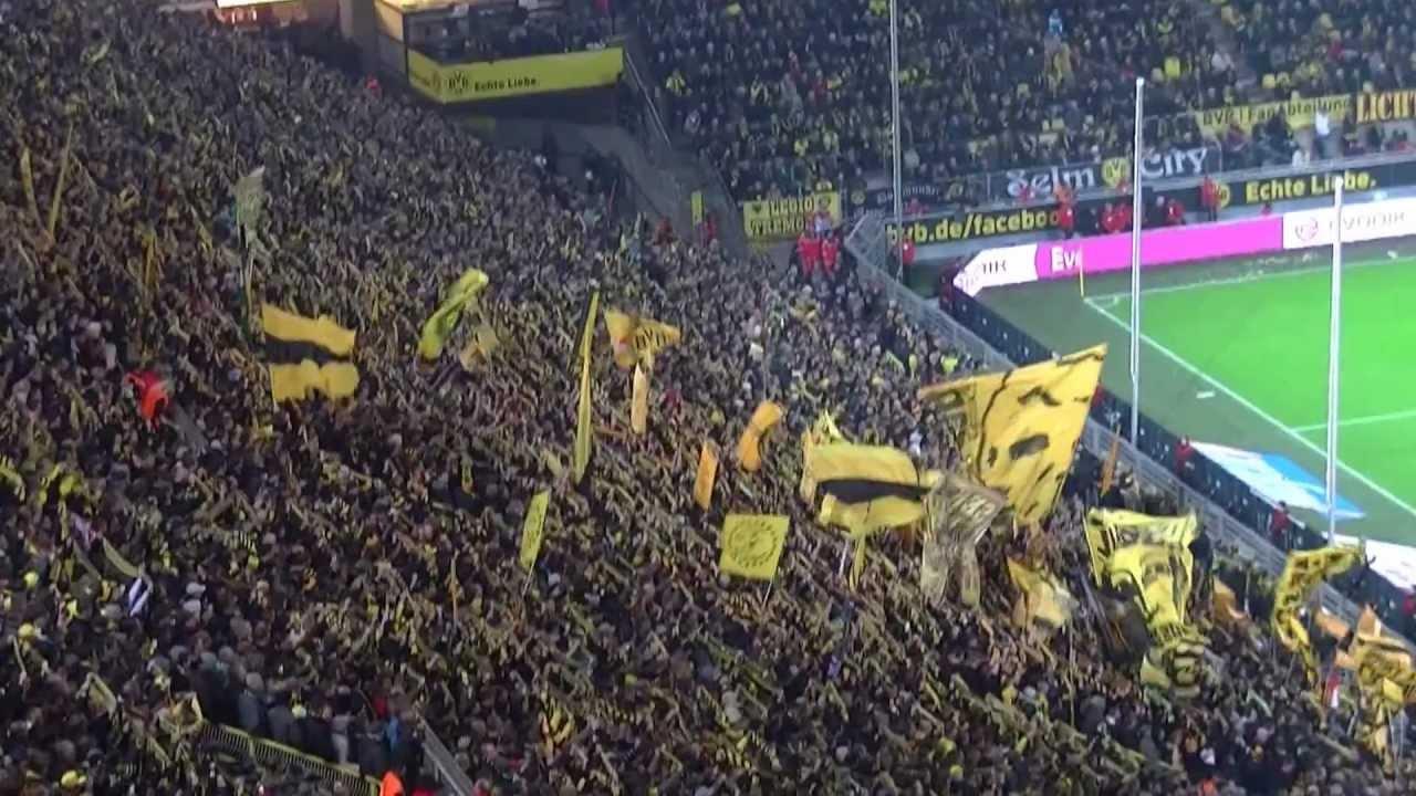 Leuchte auf mein Stern Borussia: Borussia Dortmund - Greuther Fürth letzte Minuten Südtribüne